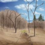 Tavaszi erdő - festés gyakorlás