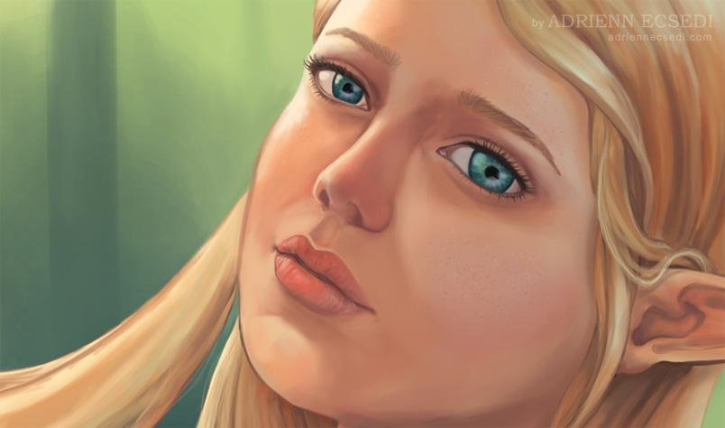 Charlotte - arc részlet