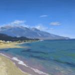 Görög tengerpart - digitális festmény