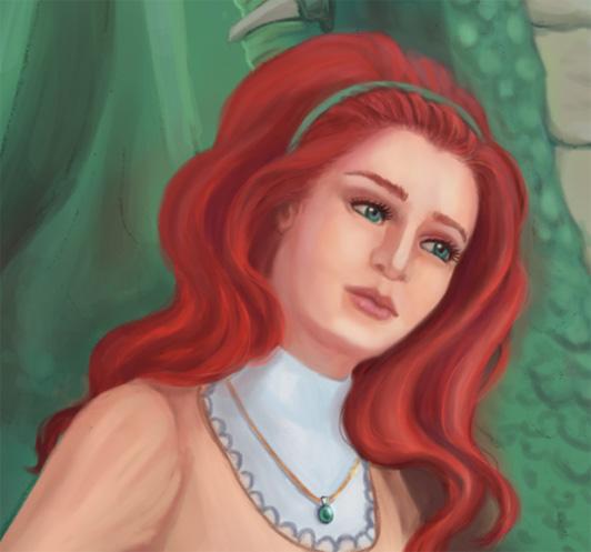 Vörös hajú fantasy nő