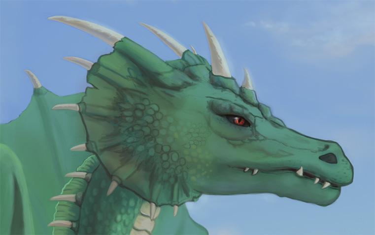 A zöld sárkány feje