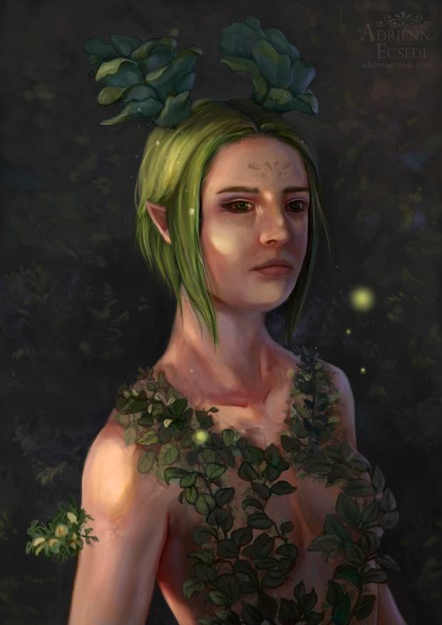 Egy a természettel - Ecsedi Adrienn festménye