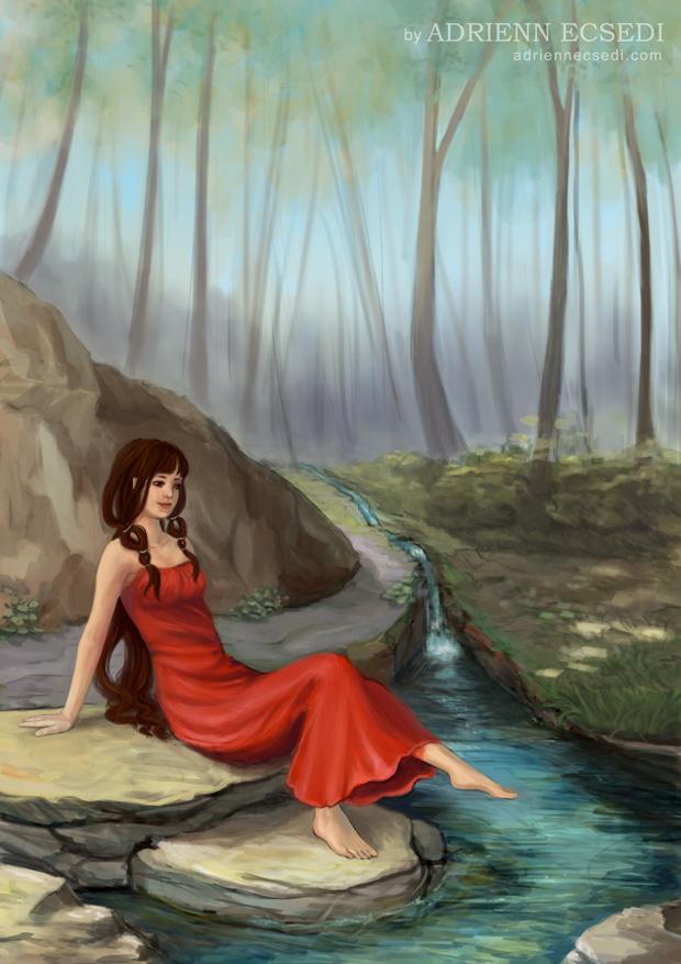 Erdei Patak - Ecsedi Adrienn festménye